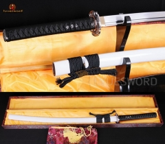 Japanese Katana Iaito 1060 High Carbon Steel Custom Unsharpened Practice Sword Full Tang