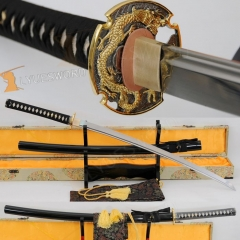 Japanese Handmade Unsharpened Iaito (Iaido Sword)  Practice Training Japanese Sword Dragon Tsuba Katana