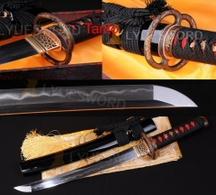 High Quality Japanese Samurai Sword Folded Steel Real Clay Tempered Hamon Tanto Razor Sharp