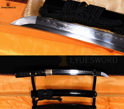 BATTLE READY JAPANESE SAMURAI TANTO SWORD T10 STEEL CLAY TEMPERED FULL TANG BLADE