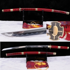 Hand Forge Full Tang Blade Sandai Kitetsu in One Piece Roronoa Zoro Katana Japanese Samurai Sword Sharp