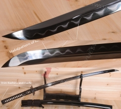 Hand Forge Japanese Samurai Katana Real Damascus Folded Steel Clay Tempered Katana Real Hamon Engraving Dragon