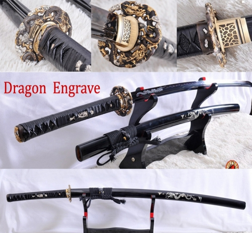 FULL TANG FOLDED STEEL CLAY TEMPERED JAPANESE SAMURAI SWORD KATANA SHARP BLADE