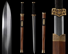 Han Dynasty Jian / Chinese Sword / Eight - Sided Sharp Blade / Folded Damascus Steel / Hand Forged Blade