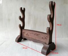 Hualee Wooden Stands / Engravd Crane/ Display Holder For Japanese Katana / Chinese Swords