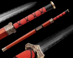 Full Hand Forged Chinese Sword | Razror Sharp | Clay Tempered Folded Steel Blade | Hand Dynasty Jian | Kung Fu Wushu Chinese Martial Arts
