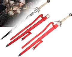 The Witcher 3: Wild Hunt Geralt of Rivia Ciri Cosplay Replica Sword Game Long Sword Ciri Red Ⅱ