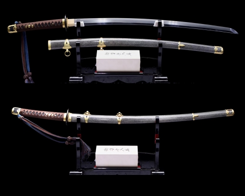 Japanese Officer's Katana (Type 97) Shin Gunto Clay Tempered Suguha Hamon Samurai Sword Sharp Blade