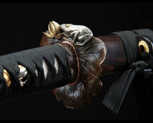 Damascus Folded Steel Clay Tempered Samurai Sword Full Tang Razor Sharp Blade Hazuya Polish Sword